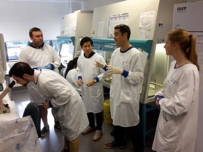 Students at a lab.
